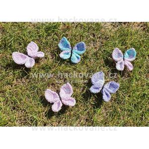 Sada motýlků, fialová
