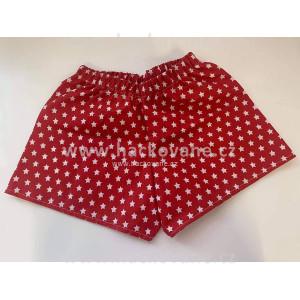 Bavlněné kraťasy, červená, vel. 110-116