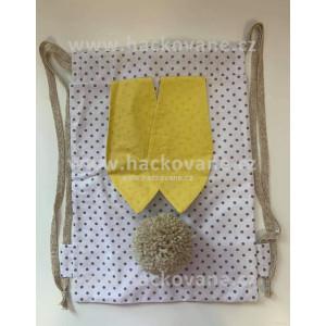 Batůžek (vak), stahovací, zajíc, žlutý