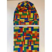 Čepice s nákrčníkem, lego, vel. 48-50cm