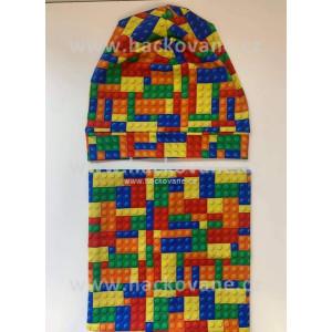 Čepice s nákrčníkem, lego, vel. 46 - 48 cm