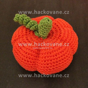 Háčkovaná dýně - oranžová