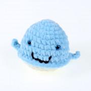 Háčkovaná velryba, světle modrá