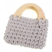 Háčkovaná kabelka, béžová